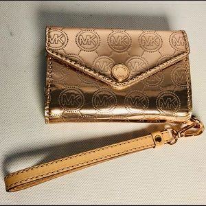 Copper Signature Michael Kors Wristlet/wallet